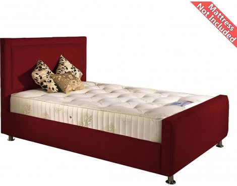 Valufurniture Calverton Bed Frame - Raspberry - Small Single 2ft6