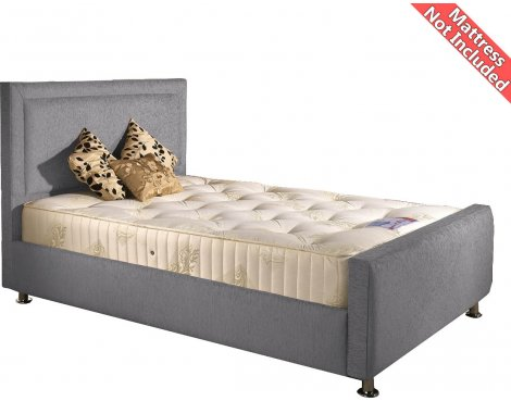 Valufurniture Calverton Bed Frame - Silver - Small Double 4ft