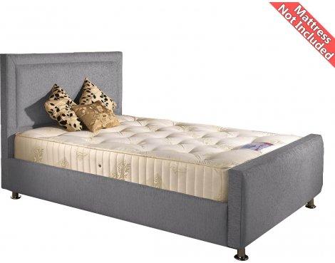 Valufurniture Calverton Bed Frame - Silver - Super King 6ft