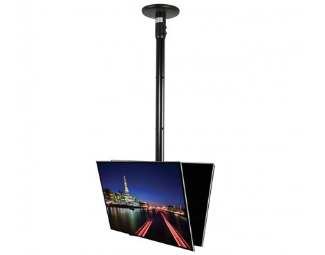 B-Tech 150cm Black Back-to-Back Ceiling Mount