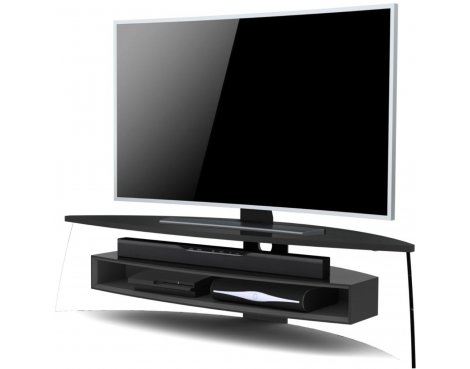 "Techlink Air Curve TV Stand for up to 70"" TV\'s - Gloss Black & Satin Grey"