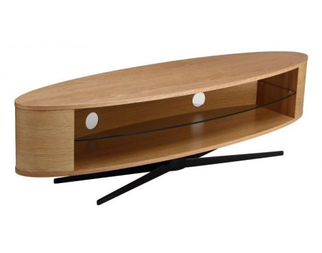 "Techlink Ellipse TV Stand for up to 65"" TV\'s - Light Oak"