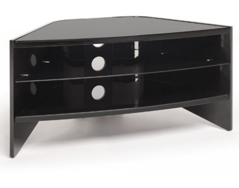 "Techlink Riva TV stand for up to 50"" - Piano Black with Black Glass"