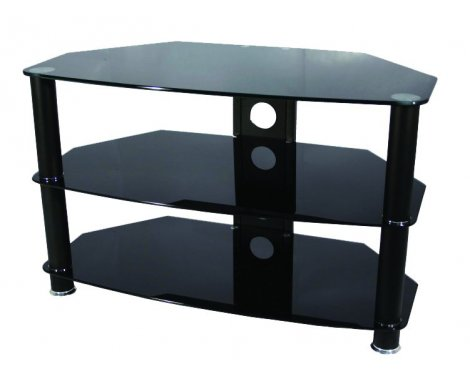 ValuFurniture Brisa 1000mm Black Glass TV Stand for up to 50""