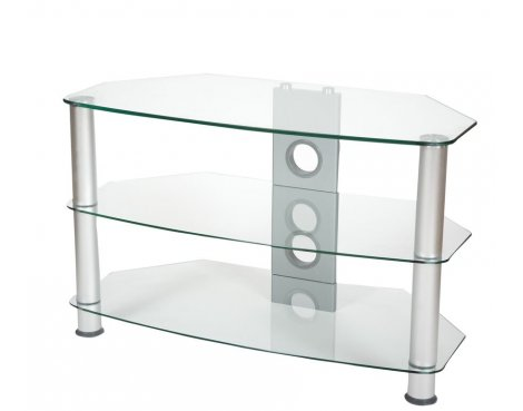 ValuFurniture Brisa 600mm Clear Glass TV Stand for up to 32""