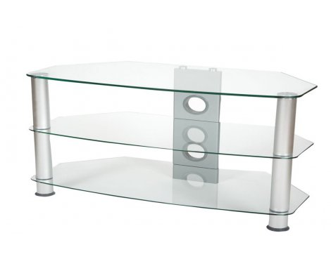 ValuFurniture Brisa 1000mm Clear Glass TV Stand for up to 50""