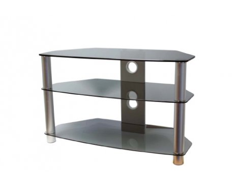 ValuFurniture Brisa 800mm Smoked Glass TV Stand for up to 42""