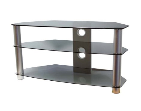 B GRADE ValuFurniture Brisa 1000mm Smoked Glass TV Stand for up to 50""