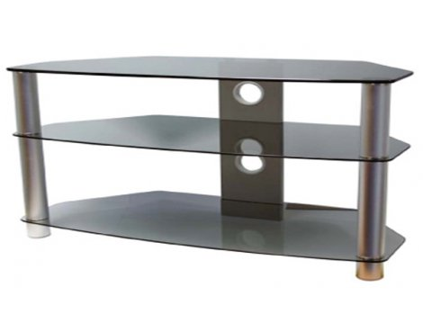 ValuFurniture Brisa 1200mm Smoked Glass TV Stand for up to 60""