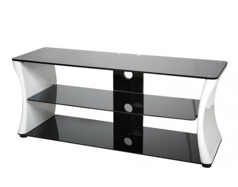 ValuFurniture Sirocco 1100mm Black & White TV Stand for up to 52""