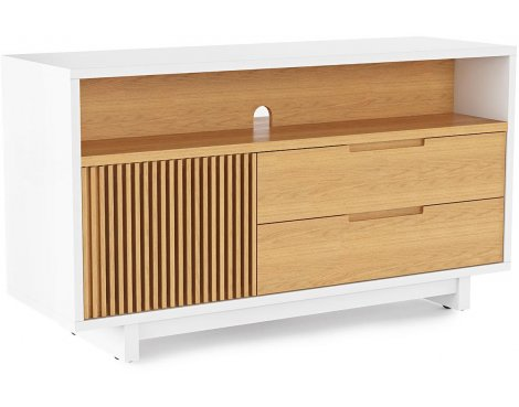 BDI Vertica 8556 White Oak TV Stand for up to 60""