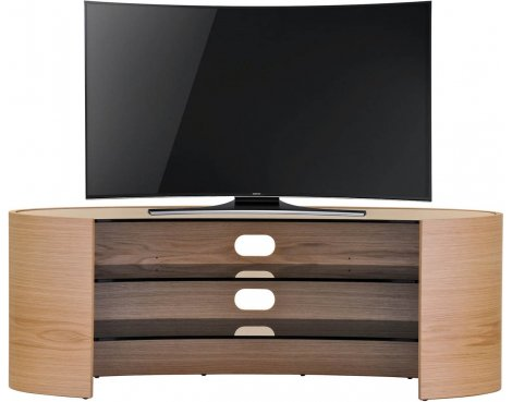 "Tom Schneider Elliptical 1250 TV Stand for up to 60"" - Oak"