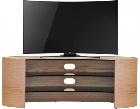 "Tom Schneider Elliptical 1400 TV Stand for up to 70"" - Oak"