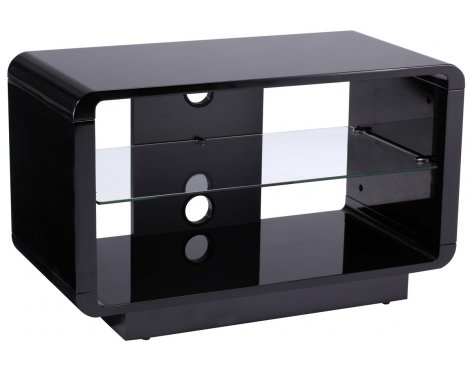 Alphason Luna ADLU800-BLK High Gloss Black TV Stand