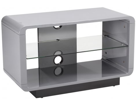 Alphason Luna ADLU800-GRY High Gloss Grey TV Stand