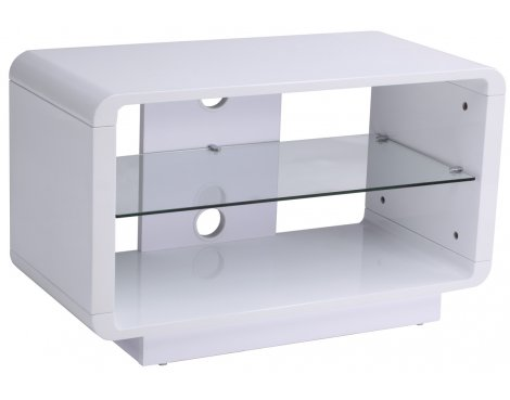 Alphason Luna ADLU800-WHT High Gloss White TV Stand