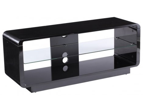 Alphason Luna ADLU1200-BLK High Gloss Black TV Stand