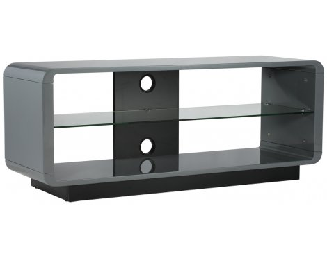 Alphason Luna ADLU1200-GRY High Gloss Grey TV Stand