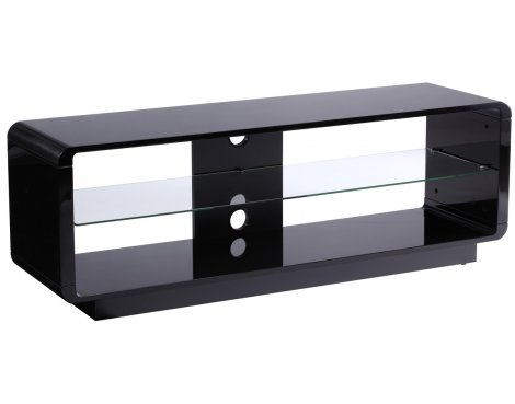 Alphason Luna ADLU1400-BLK High Gloss Black TV Stand
