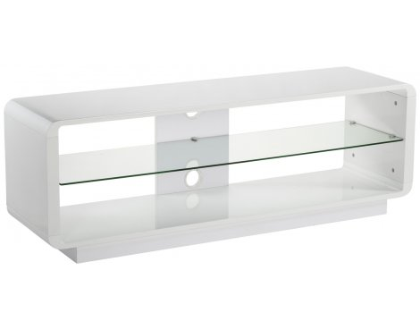 Alphason Luna ADLU1400-WHT High Gloss White TV Stand