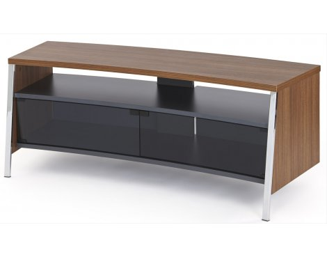 "Off The Wall Tangent 1300 TV Stand for up to 55"" - Dark Wood (Walnut Effect)"