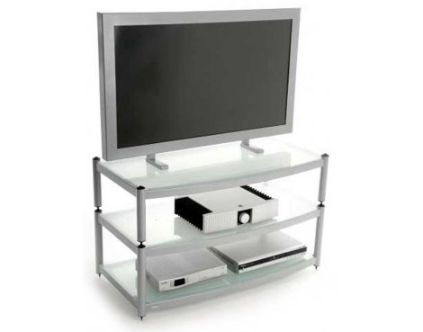 """Atacama 3 Shelf TV Stand for up to 60\"""" in Silver"""