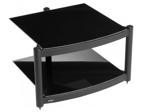 Equinox Black 2 Shelf R.S HiFi Stand