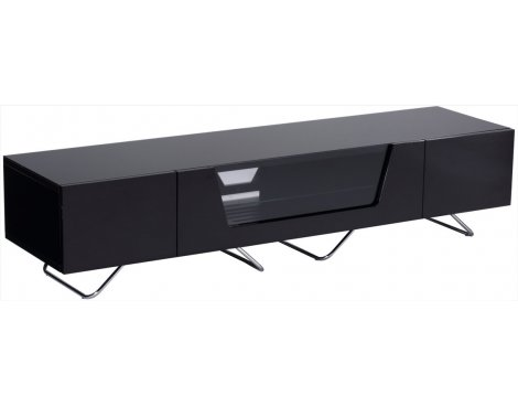 "Alphason Chromium Black TV Stand for up to 75"" TVs"