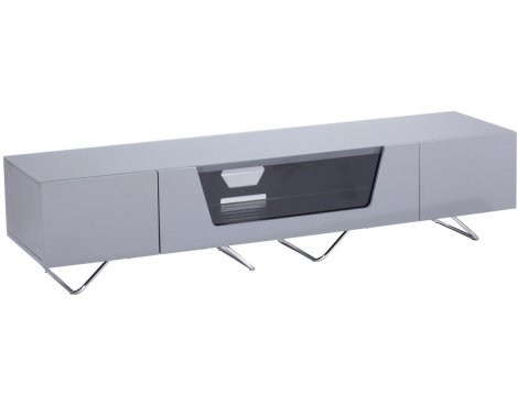 "Alphason Chromium Grey TV Stand for up to 75"" TVs"