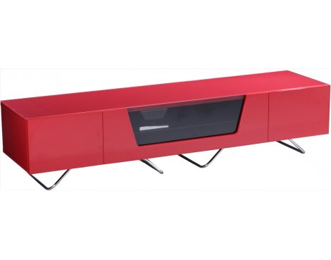 "Alphason Chromium Red TV Stand for up to 75"" TVs"