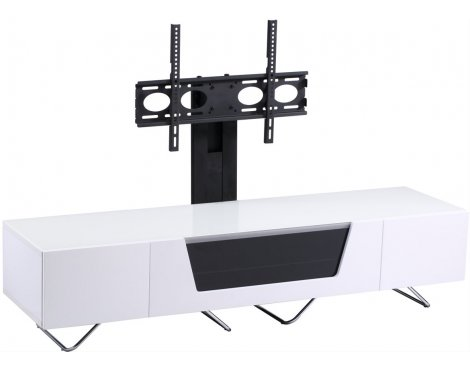 "Alphason Chromium White Cantilever TV Stand for up to 50"" TVs"
