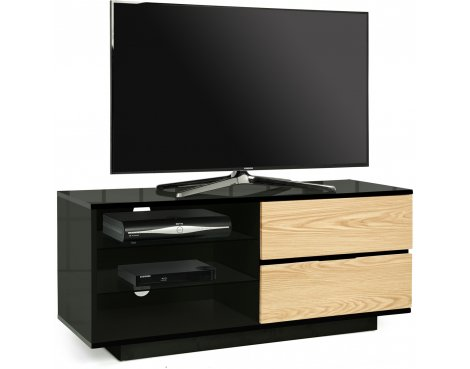MDA Gallus Black and Oak TV Cabinet
