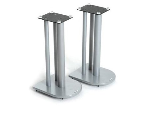 Pair of Speaker Stands in Silver - Height 50cm