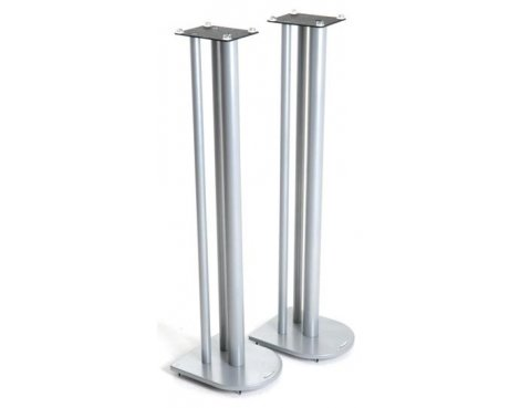 Speaker Stands in Silver - Height 100cm