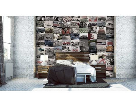 1Wall Volkswagen Creative Collage Wall Mural - 64 Pieces