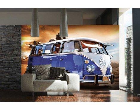 1Wall Volkswagen Camper Van Wall Mural - Blue & White