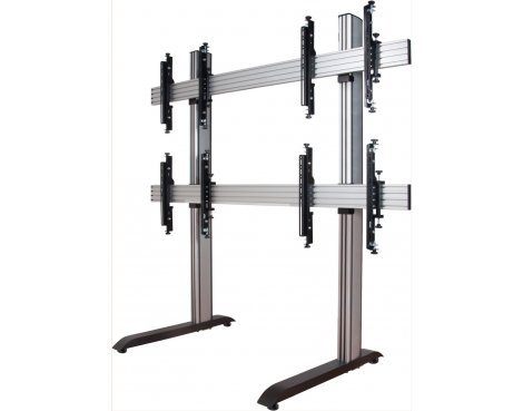 "B-Tech System X Mobile Video Wall Mount - 2x2 For 46"" Screens"