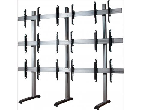 "B-Tech System X Mobile Video Wall Mount - 3x3 For 46"" Screens"