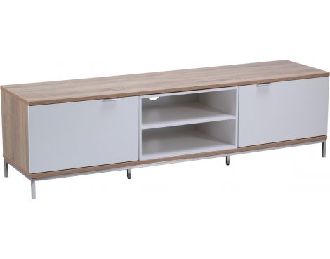 """Alphason Chaplin 1600 TV Stand for TVs up to 72\"""" - Oak & White"""