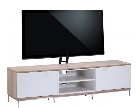 "Alphason Chaplin 1600 Cantilever Stand for TVs up to 65"" - Oak & White"