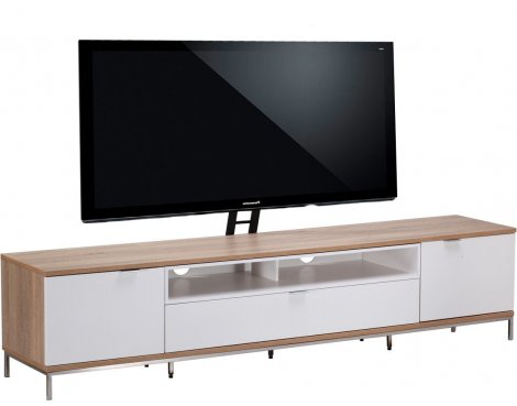 "Alphason Chaplin 2000 Cantilever Stand for TVs up to 65"" - Oak & White"