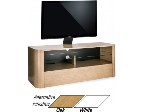 "Alphason Hugo 1260 Cantilever Stand for TVs up to 65"" - Light Oak"