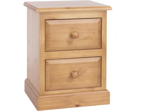 Core Products Edwardian 2 Drawer Bedside Cabinet - Pine