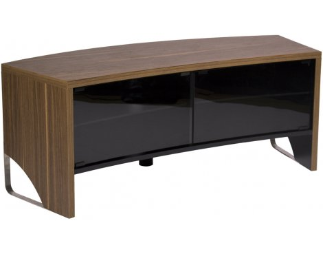 MMT Curve 1300 Walnut TV Cabinet for TVs up to 55""