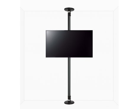 "B-Tech Floor to Ceiling Mount for up to 80"" TVs - 4m Pole - Black"