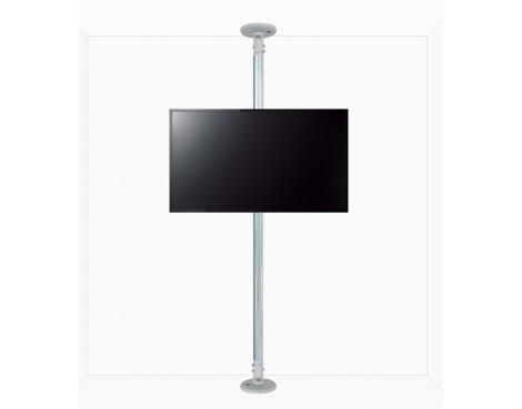 "B-Tech Floor to Ceiling Mount for up to 80"" TVs - 2m Pole - Chrome"