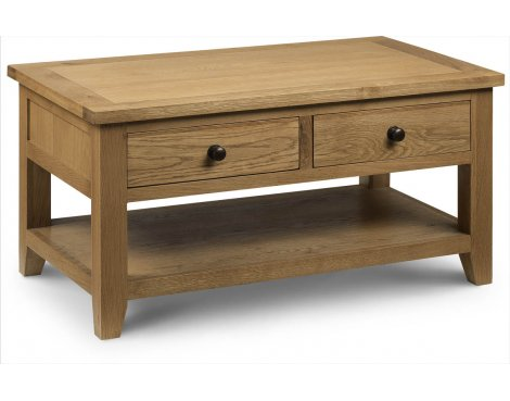 Julian Bowen Astoria Oak Coffee Table with 2 Drawers