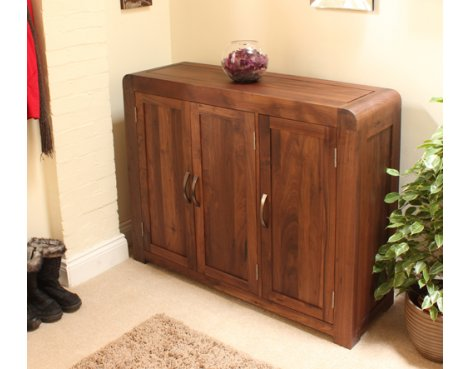 Baumhaus CDR20F Shiro Walnut Extra large Shoe Cupboard