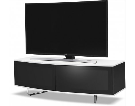 "B GRADE/Box slightly damaged MDA Designs Caru TV Stand for up to 65"" TVs - White"