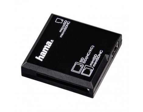 Hama All in One USB 2.0 Card Reader, SD/microSD, black